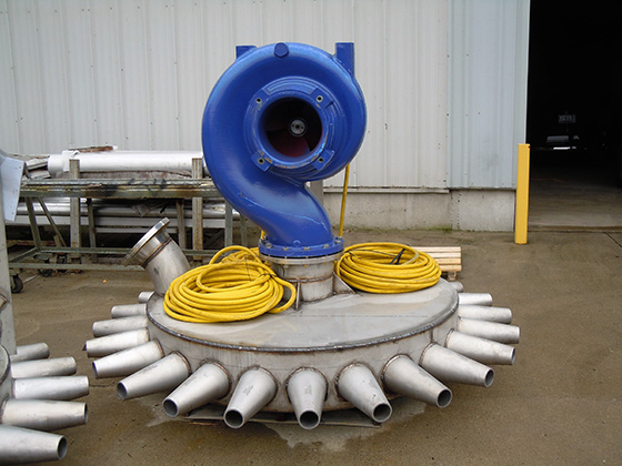 self contained jet aerators for wet installations