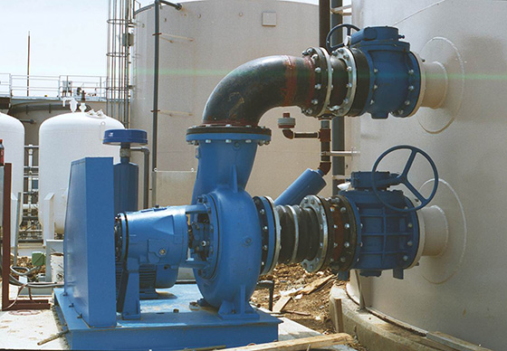jet mixer pumps showing suction and discharge piping
