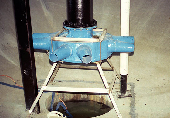 eddy jet mixer for mixing anaerobic sludge digesters