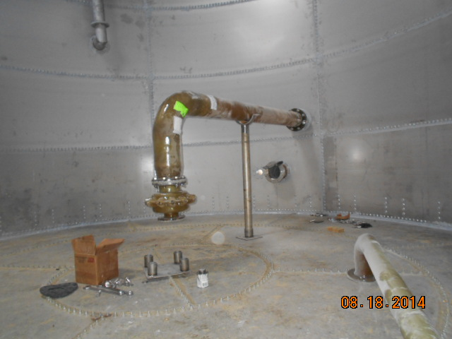 jet mixer during installation at beverage manufacturer