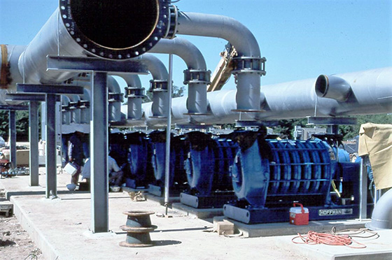 hoffman air blowers in jet aeration treating composite chemical and petrochemcial waste water