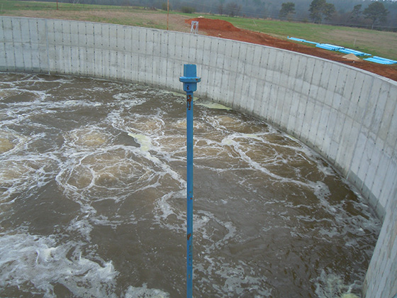 jet aeration system operation circular tanks