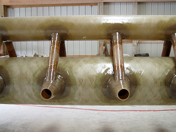 jet aerator showing liquid and air headers