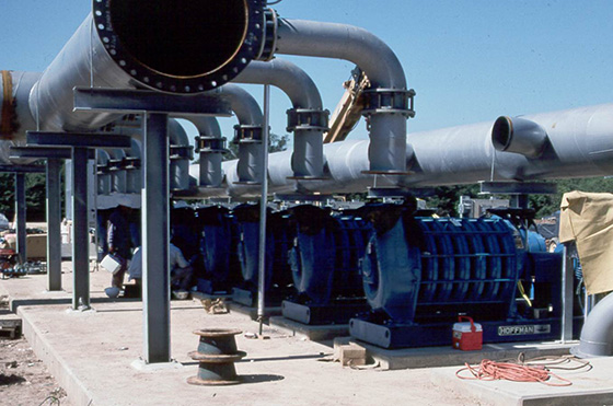 250 hp jet aeration hoffman air blowers at gulf coast waste water treatment plant