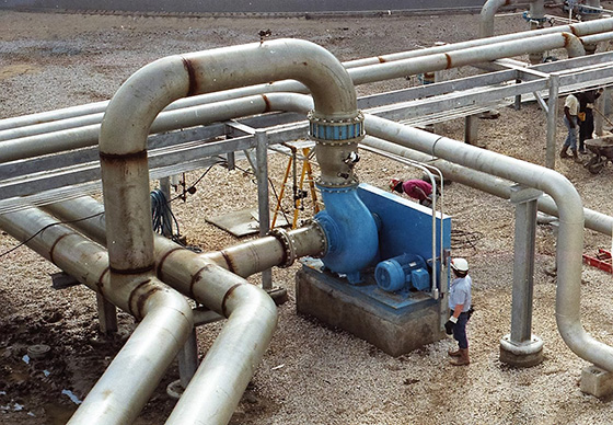 jet aeration goulds pumps for chemical plant in plaqueming, la