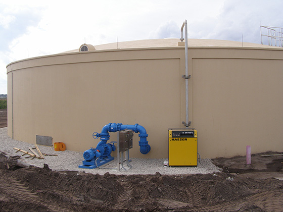 jet mixer and aeration system for mixing chemicals and stripping of organics at water treatment plant in florida