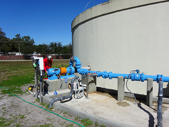 chemical blending at water treatment plant florida