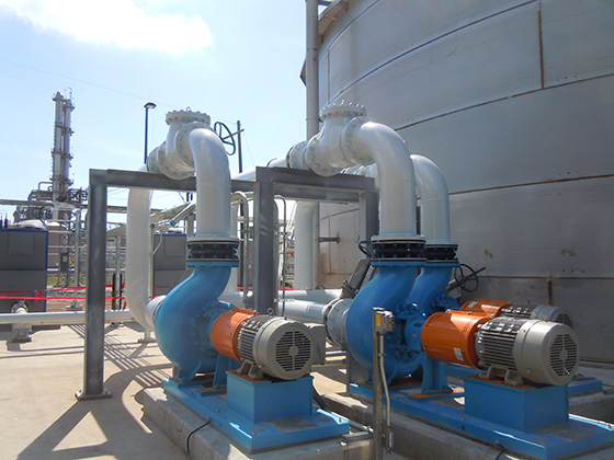 jet aeration pumps with stand by for efficient oxygen transfer