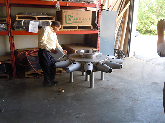 jet mixer inspection during fabrication