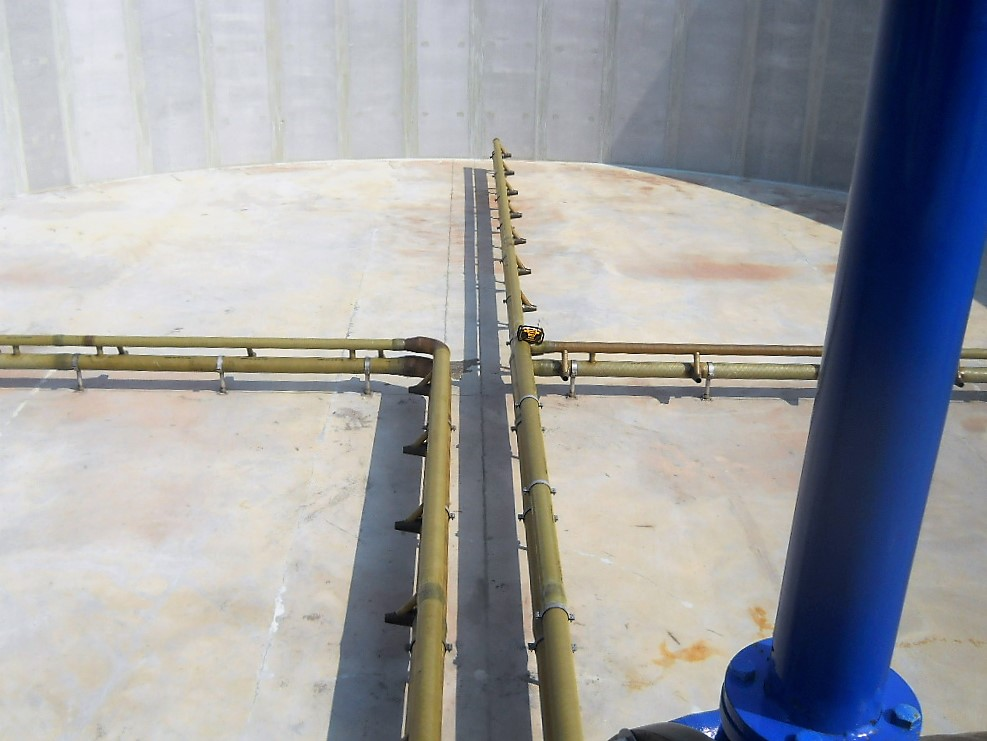 jet aeration system for biological oxidation and de nitrification tanks